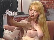 Governess slut satisfy ardent blonde transsexual